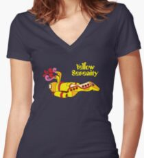 Yellow Serenity Women's Fitted V-Neck T-Shirt