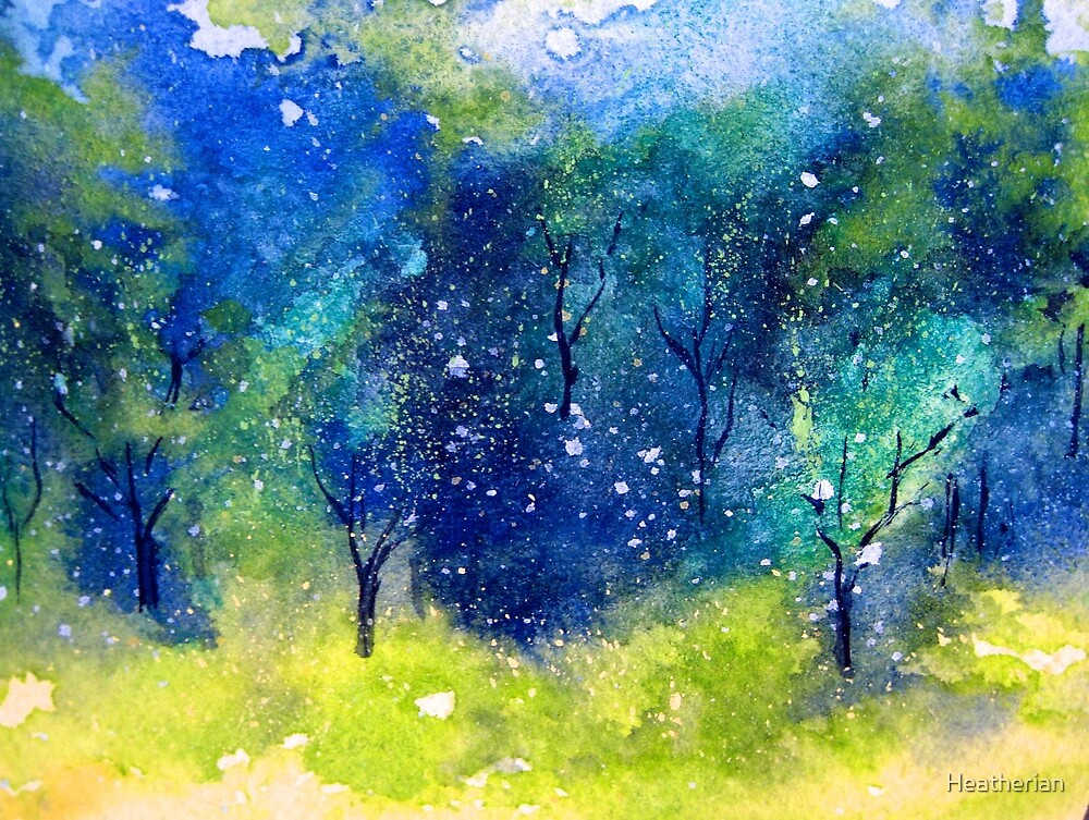 Tree Series - Trees in the Orchard 1  by Heatherian
