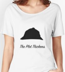 "Sherlock Holmes ""The Plot Thickens"" Women's Relaxed Fit T-Shirt"