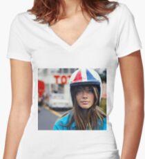 Françoise Hardy - Grand Prix Women's Fitted V-Neck T-Shirt
