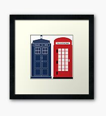 Dr. Who Phone Booth Framed Print