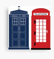 Dr. Who Phone Booth Canvas Print
