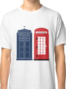 Dr. Who Phone Booth Classic T-Shirt