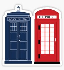 Dr. Who Phone Booth Sticker