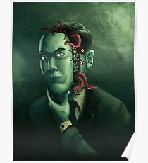 H.P. Lovecraft (w/background) Poster