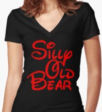 silly old bear 2 Women's Fitted V-Neck T-Shirt