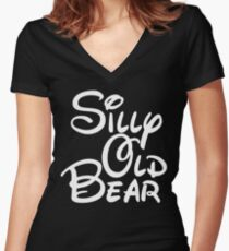 silly old bear 4 Women's Fitted V-Neck T-Shirt