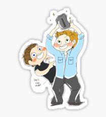 Jensen Ackles & Misha Collins - PCA Sticker