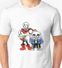 Undertale - Sans and Papyrus Slim Fit T-Shirt