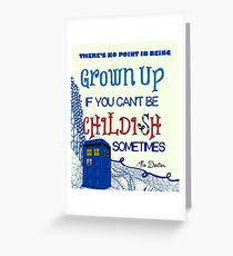 Dr. Who Zentangle Quote Greeting Card