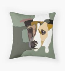 Jack Russel in the sun Throw Pillow
