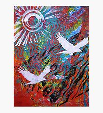Flying Free Monoprint Photographic Print