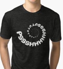 PSHHSUTUTU - Turbo Dose Boost Noise JDM Window Sticker / Tee - White Tri-blend T-Shirt
