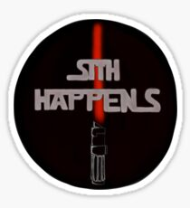 Sith Happens With Darth Vader Saber Sticker