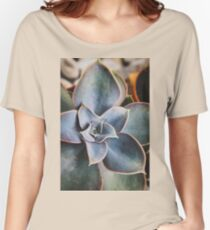 close up of succulent Women's Relaxed Fit T-Shirt