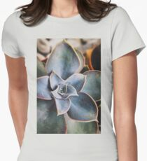 close up of succulent Womens Fitted T-Shirt