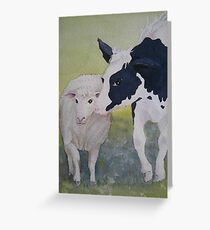 Best of Friends 2 by Heather Holland Greeting Card