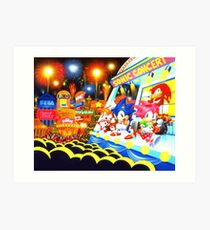 Sonic the Hedgehog live in concert! Art Print