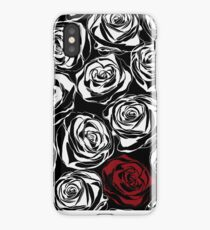Seamless pattern with black roses flowers.  iPhone Case