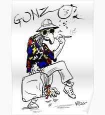 Gonzo- Fear and Loathing in Las Vegas parody Poster