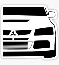 Mitsubishi Lancer Evo - Zoom Close Up Left Side Corner Edge - Sticker / Case Design Sticker