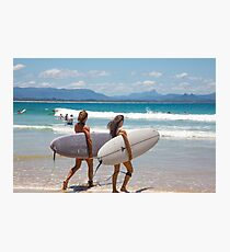 Byron Bay Friends Surf Photographic Print