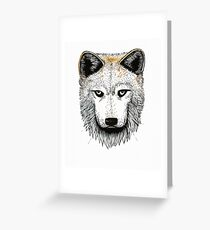 One Pack Wolf Greeting Card