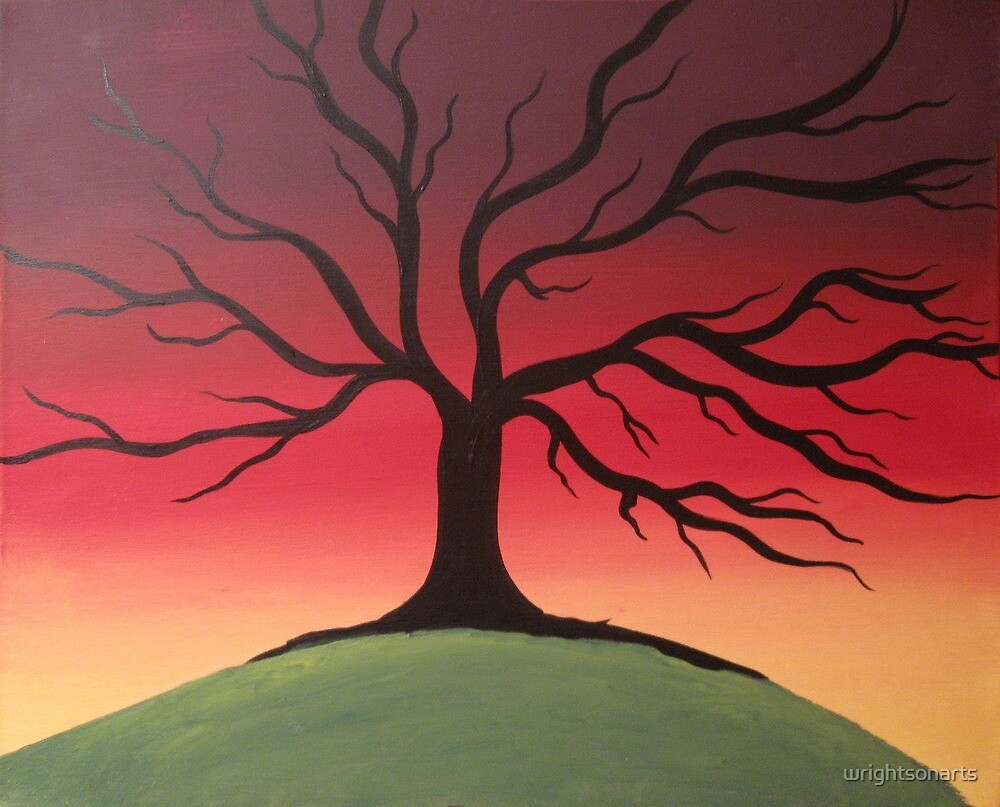"""color tree of life art work canvas original painting ..."