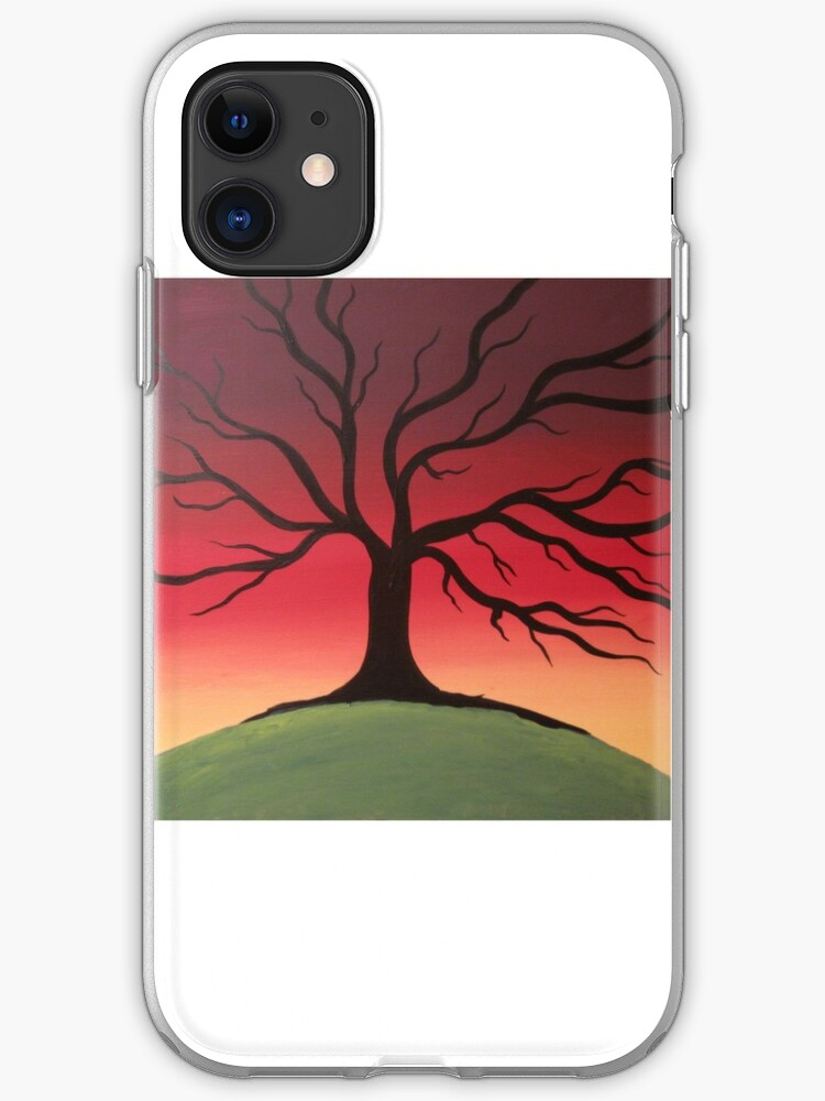 Color Tree Of Life Art Work Canvas Original Painting Decor Landscape Iphone Case By Wrightsonarts