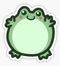 Cute Round Frog Sticker