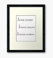 Grey Warden Slogan Framed Print
