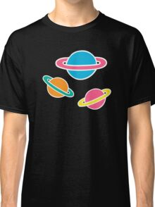 Pink Planets Pattern Classic T-Shirt