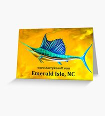 Sailfish   (Emerald Isle) Greeting Card