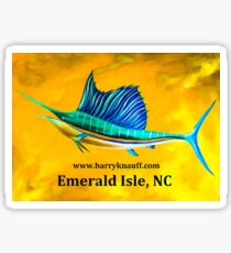 Sailfish   (Emerald Isle) Sticker