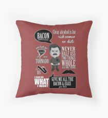 Ron Swanson Montage  Throw Pillow