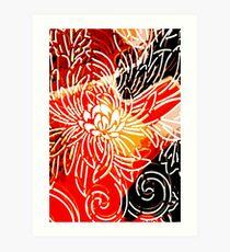 Fire Flower by Jenny Meehan Art Print