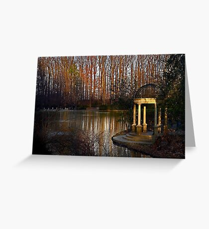 The gazebo at Longwood Gardens Greeting Card