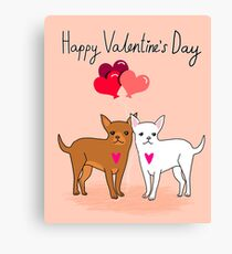 Chihuahua Valentines day cute gift for dog person love  Canvas Print