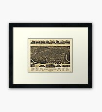 Aerial View of Fort Worth Tarrant County Texas (1886) Framed Print