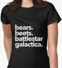Camiseta entallada Osos. Remolachas Battlestar Galactica. (Variante blanca)