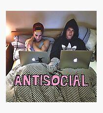 Joe and Caspar Antisocial Photographic Print