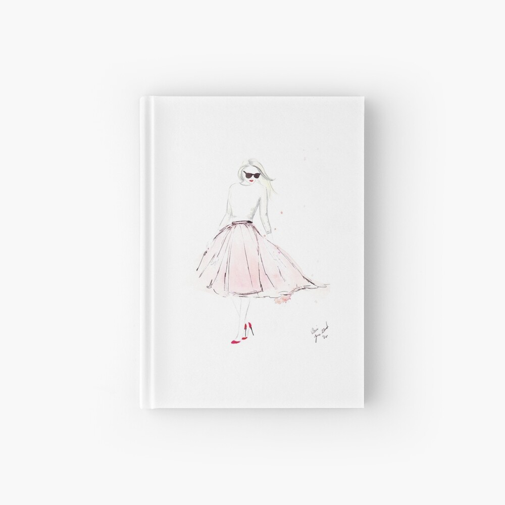 Pink Tulle Hardcover Journal