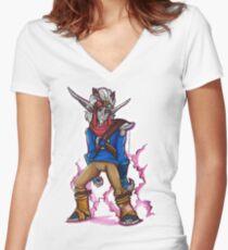 Dark Jak Women's Fitted V-Neck T-Shirt