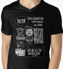 Ron Swanson Montage  Men's V-Neck T-Shirt