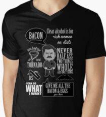 Ron Swanson Montage  Men's V-Neck T-Shirt