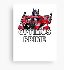 Transformers Optimus Prime MASTERPIECE Canvas Print