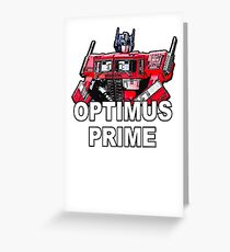 Transformers Optimus Prime MASTERPIECE Greeting Card