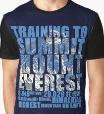 Training to Summit Mount Everest Graphic T-Shirt