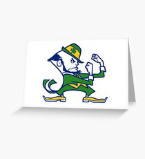 Fighting Irish Notre Dame Greeting Card