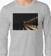 South Haven Lighthouse at Night Long Sleeve T-Shirt